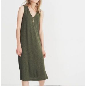 Madewell l V-neck Jersey Tank Dress Green
